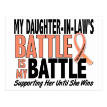 My Battle Too Daughter-In-Law Uterine Cancer Postcard