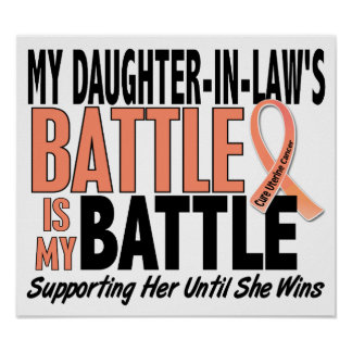 My Battle Too Daughter-In-Law Uterine Cancer Print