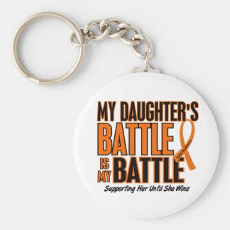 My Battle Too Daughter Leukemia Key Chain