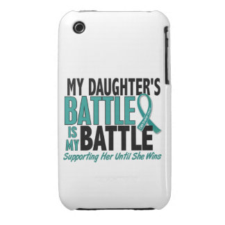 My Battle Too Daughter Ovarian Cancer iPhone 3 Case-Mate Case