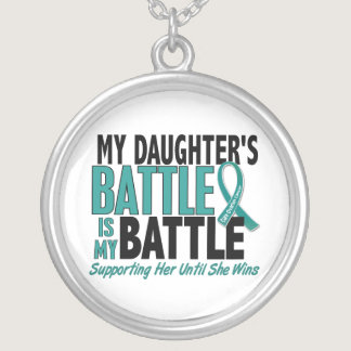 My Battle Too Daughter Ovarian Cancer Silver Plated Necklace