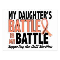 My Battle Too Daughter Uterine Cancer Postcard