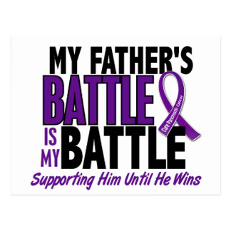 My Battle Too Father Pancreatic Cancer Postcard