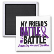 My Battle Too Friend Pancreatic Cancer Magnet