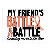 My Battle Too Friend Uterine Cancer Postcard