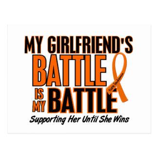 My Battle Too Girlfriend Leukemia Postcard