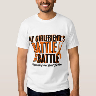 My Battle Too Girlfriend Leukemia Tee Shirts