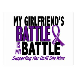 My Battle Too Girlfriend Pancreatic Cancer Postcard