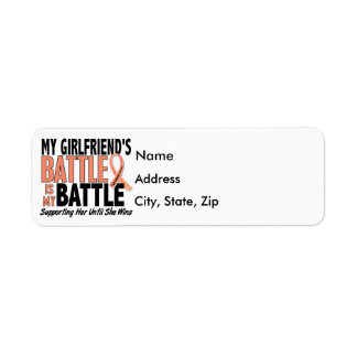 My Battle Too Girlfriend Uterine Cancer Label