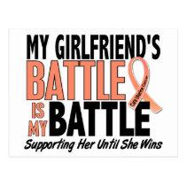 My Battle Too Girlfriend Uterine Cancer Postcard