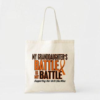 My Battle Too Granddaughter Leukemia Tote Bags