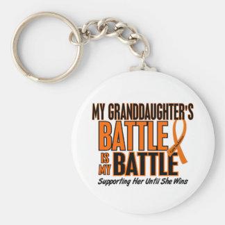 My Battle Too Granddaughter Leukemia Key Chains