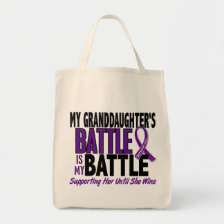 My Battle Too Granddaughter Pancreatic Cancer Tote Bag