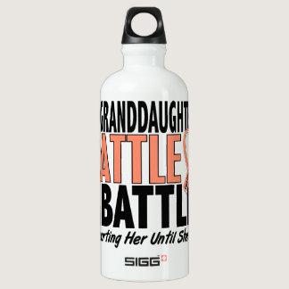 My Battle Too Granddaughter Uterine Cancer Aluminum Water Bottle