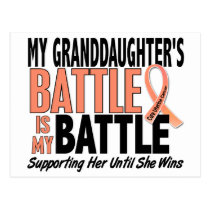 My Battle Too Granddaughter Uterine Cancer Postcard