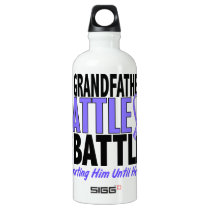 My Battle Too Grandfather Esophageal Cancer Aluminum Water Bottle