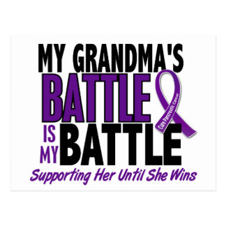 My Battle Too Grandma Pancreatic Cancer Postcard