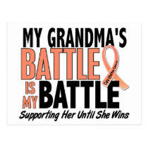 My Battle Too Grandma Uterine Cancer Postcard