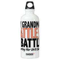 My Battle Too Grandma Uterine Cancer Water Bottle