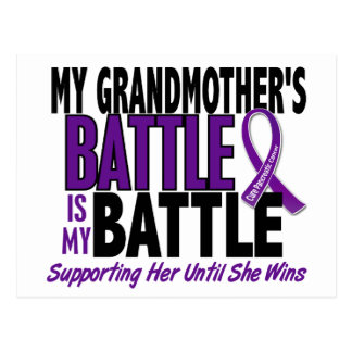 My Battle Too Grandmother Pancreatic Cancer Postcard