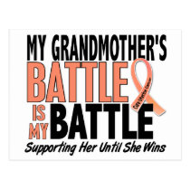 My Battle Too Grandmother Uterine Cancer Postcard