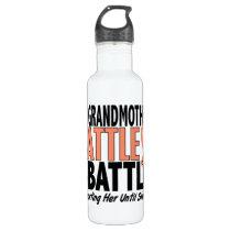 My Battle Too Grandmother Uterine Cancer Water Bottle