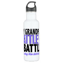 My Battle Too Grandpa Esophageal Cancer Stainless Steel Water Bottle