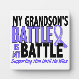 My Battle Too Grandson Esophageal Cancer Photo Plaque