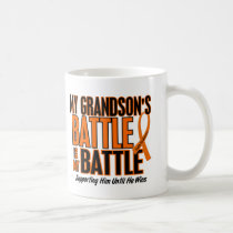 My Battle Too Grandson Leukemia Coffee Mug