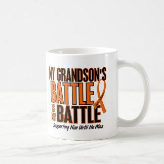 My Battle Too Grandson Leukemia Coffee Mug