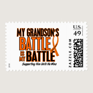 My Battle Too Grandson Leukemia Postage