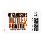 My Battle Too Grandson Leukemia Postage Stamps