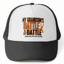 My Battle Too Grandson Leukemia Trucker Hat