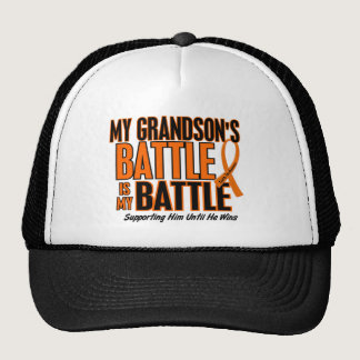 My Battle Too Grandson Leukemia Trucker Hat