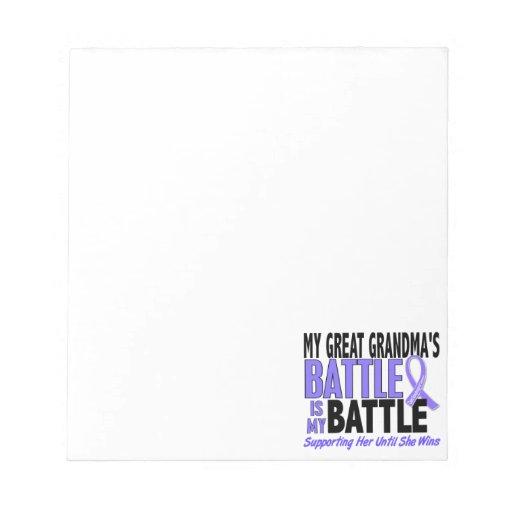 My Battle Too Great Grandma Esophageal Cancer Notepad