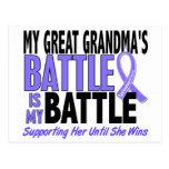My Battle Too Great Grandma Esophageal Cancer Postcard