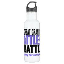 My Battle Too Great Grandma Esophageal Cancer Stainless Steel Water Bottle