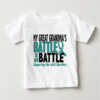 My Battle Too Great Grandma Ovarian Cancer Baby T-Shirt