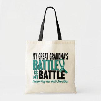 My Battle Too Great Grandma Ovarian Cancer Tote Bag