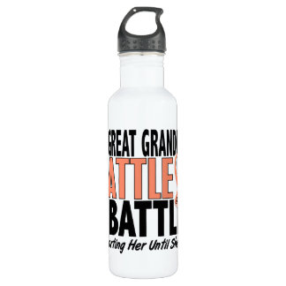 My Battle Too Great Grandma Uterine Cancer Stainless Steel Water Bottle