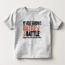 My Battle Too Great Grandma Uterine Cancer Toddler T-shirt