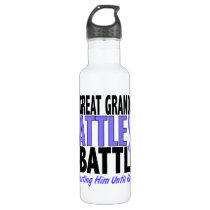My Battle Too Great Grandpa Esophageal Cancer Stainless Steel Water Bottle