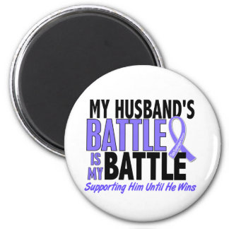 My Battle Too Husband Esophageal Cancer 2 Inch Round Magnet