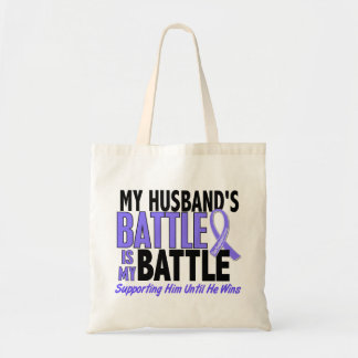 My Battle Too Husband Esophageal Cancer Tote Bag
