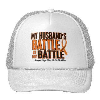 My Battle Too Husband Leukemia Mesh Hat