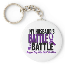 My Battle Too Husband Pancreatic Cancer Keychain