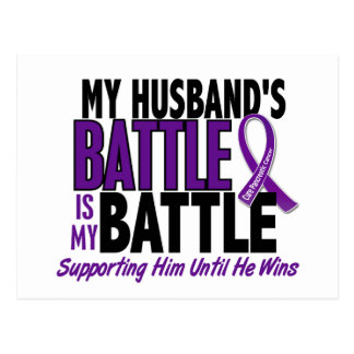 My Battle Too Husband Pancreatic Cancer Postcard