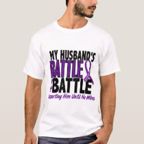 My Battle Too Husband Pancreatic Cancer T-Shirt