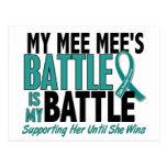 My Battle Too Mee Mee Ovarian Cancer Postcard