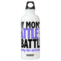 My Battle Too Mom Esophageal Cancer Aluminum Water Bottle